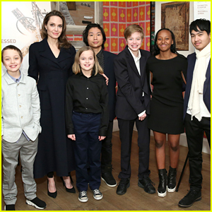 Angelina Jolie Makes Rare Appearance with All Six Children!