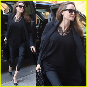 Angelina Jolie Steps Out After Family-Filled Weekend in NYC!