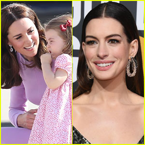 Anne Hathaway Picked Up a Parenting Tip from Kate Middleton & Prince William!