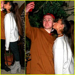 Ariana Grande Kisses a Fan on the Cheek for Cute Selfie!