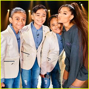 Ariana Grande Surprises the TNT Boys on 'Corden' - Watch Now!