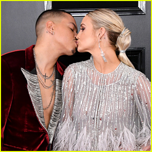 Ashlee Simpson & Evan Ross Pucker Up on the Red Carpet at Grammys 2019