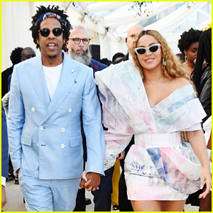 Beyonce & Jay-Z Dress in Pastel Colors for Roc Nation's Pre-Grammys Brunch