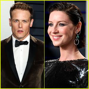 Caitriona Balfe Roasts Sam Heughan for Lopsided Bow Tie at Vanity Fair Oscar Party!