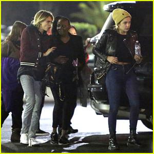 Cara Delevingne & Girlfriend Ashley Benson Enjoy Elton John's Concert!