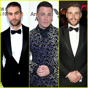Chace Crawford, Colton Haynes, & Gus Kenworthy Suit Up at Elton John's Oscars Party!