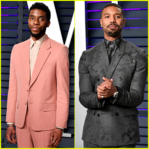 Black Panther's Chadwick Boseman & Michael B. Jordan Show Off Their Style at Vanity Fair Oscar Party 2019!