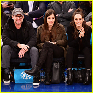 Christian Slater, Brittany Lopez & 'Mr. Robot' Co-Star Carly Chaikin Sit Courtside at Knicks Game!