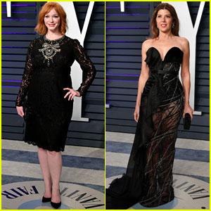Christina Hendricks & Marisa Tomei Stop By Vanity Fair's Oscars 2019 Party