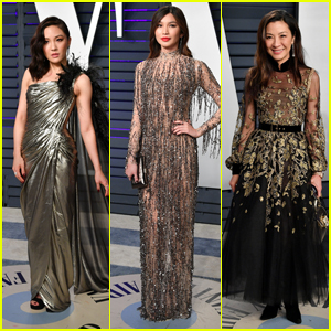 Constance Wu, Gemma Chan & Michelle Yeoh Stun at Vanity Fair's Oscars Party