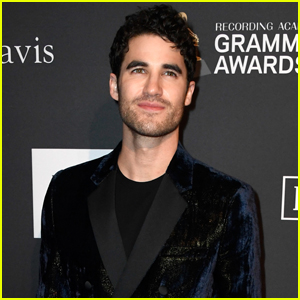 Darren Criss Looks So Handsome at Clive Davis' Pre-Grammys Party!
