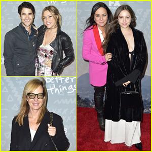 Darren Criss, Mia Swier & Allison Janney Support 'Better Things' Cast at Season 3 Premiere!