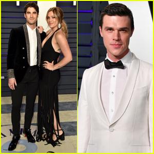 Darren Criss, Mia Swier & Finn Wittrock Attend Vanity Fair's Oscars Party