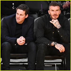 David Beckham Has Boys Night With Dave Gardner at Lakers Game!