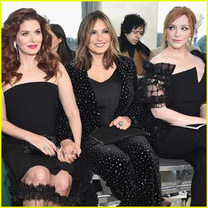 Debra Messing, Mariska Hargitay, & Christina Hendricks Step Out for Christian Siriano NYFW Show