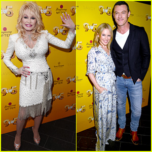 Dolly Parton, Kylie Minogue & Luke Evans Attend '9 to 5: The Musical' in London!