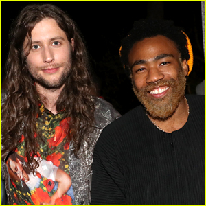 Donald Glover Rocks Bleached Blonde Beard at Ludwig Goransson's Grammy Celebration