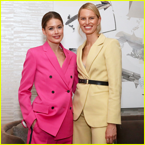 Doutzen Kroes & Karolina Kurkova Buddy Up at Hudson Yards Party!