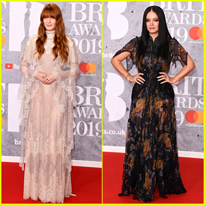 Florence Welch & Lily Allen Walk the BRIT Awards Red Carpet