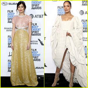 Gemma Chan & Tessa Thompson Go Glam for Spirit Awards 2019