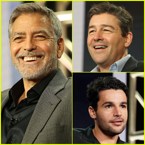 George Clooney & 'Catch-22' Co-Stars Kyle Chandler & Christopher Abbott Promote Show at TCA Panel
