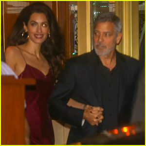 George & Amal Clooney Are All Smiles After Celebrating Jennifer Aniston's 50th Birthday!