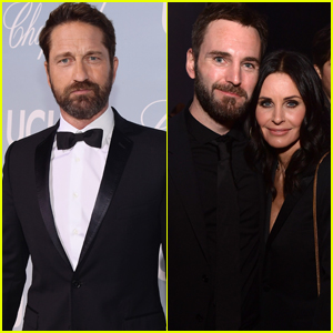 Gerard Butler Joins Courteney Cox & Johnny McDaid at Hollywood for Science Gala 2019
