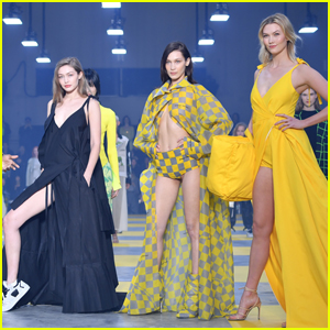 Gigi & Bella Hadid Look So Fierce with Karlie Kloss at Off-White Fashion Show!