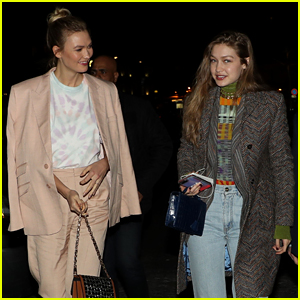 Gigi Hadid & Karlie Kloss Step Out for Evian Party in Paris