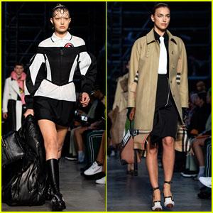 Gigi Hadid & Irina Shayk Walk the Runway for Burberry