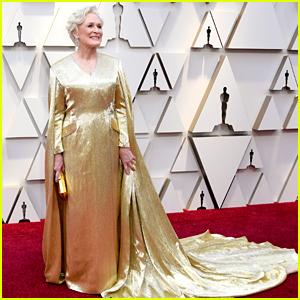 Glenn Close Wears a Gold Cape on Oscars 2019 Red Carpet