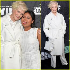 Glenn Close & Yalitza Aparicio Step Out for Women In Film Oscar Nominees Party