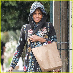Halle Berry Gets Caught in the L.A. Rain Storms