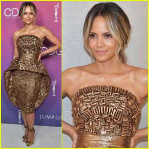 Halle Berry Rocks Solid Gold Dress for Costume Designers Guild Awards