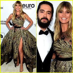 Heidi Klum & Tom Kaulitz Couple Up at Elton John's Oscars Party 2019