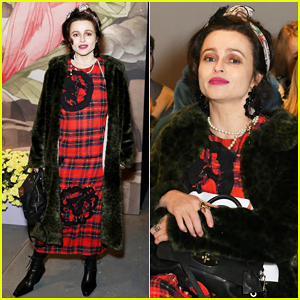 Helena Bonham Carter Sits Front Row at Shrimps London Fashion Week Show!
