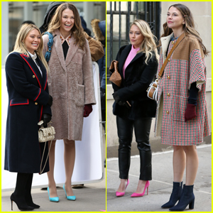Hilary Duff & Sutton Foster Step Out in Style While Filming 'Younger'