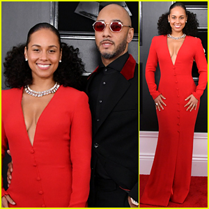 host alicia keys swizz beatz couple up for grammys 2019 2019 grammys alicia keys grammys swizz beatz just jared just jared