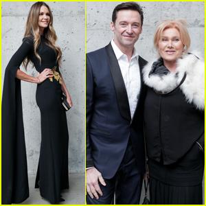 Hugh Jackman Helps Honor Elle Macpherson at American Australian Arts Awards!