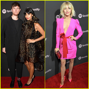 James Blake & Jameela Jamil Couple Up at Spotify Pre-Grammy Party!