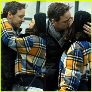 James McAvoy & Girlfriend Lisa Liberati Pack on PDA in Rare Photos Together!