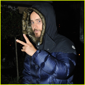 Jared Leto Tosses Up the Peace Sign While Out in London