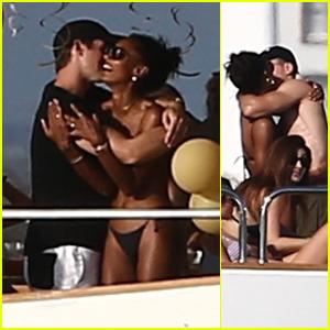Jasmine Tookes & Boyfriend Juan David Borrero Pack on the PDA in Miami!