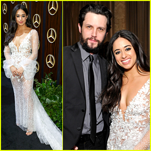 'Roswell' Stars Jeanine Mason & Nathan Parsons Step Out For Oscar Viewing Party