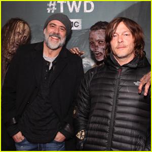 Jeffrey Dean Morgan & Norman Reedus Step Out for 'Walking Dead' Super Bowl Party!