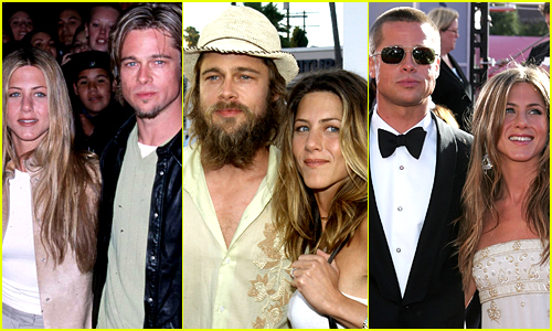Brad Pitt & Jennifer Aniston's Best Red Carpet Moments - Look Back at Old Photos!