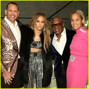 Jennifer Lopez & Alex Rodriguez Celebrate the Grammys with L.A. Reid & HITCO