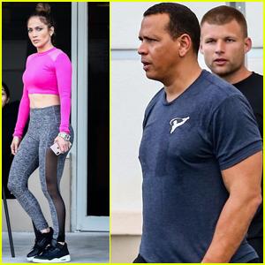 Jennifer Lopez & Alex Rodriguez Work Up a Sweat in Miami