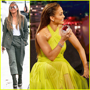 Jennifer Lopez Tells 'Kimmel' She's Learning To Dance Like a Stripper at Home for 'Hustlers'!