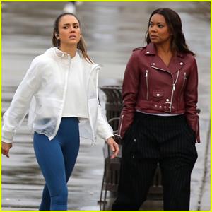 Jessica Alba & Gabrielle Union Film Scenes for 'LA's Finest'